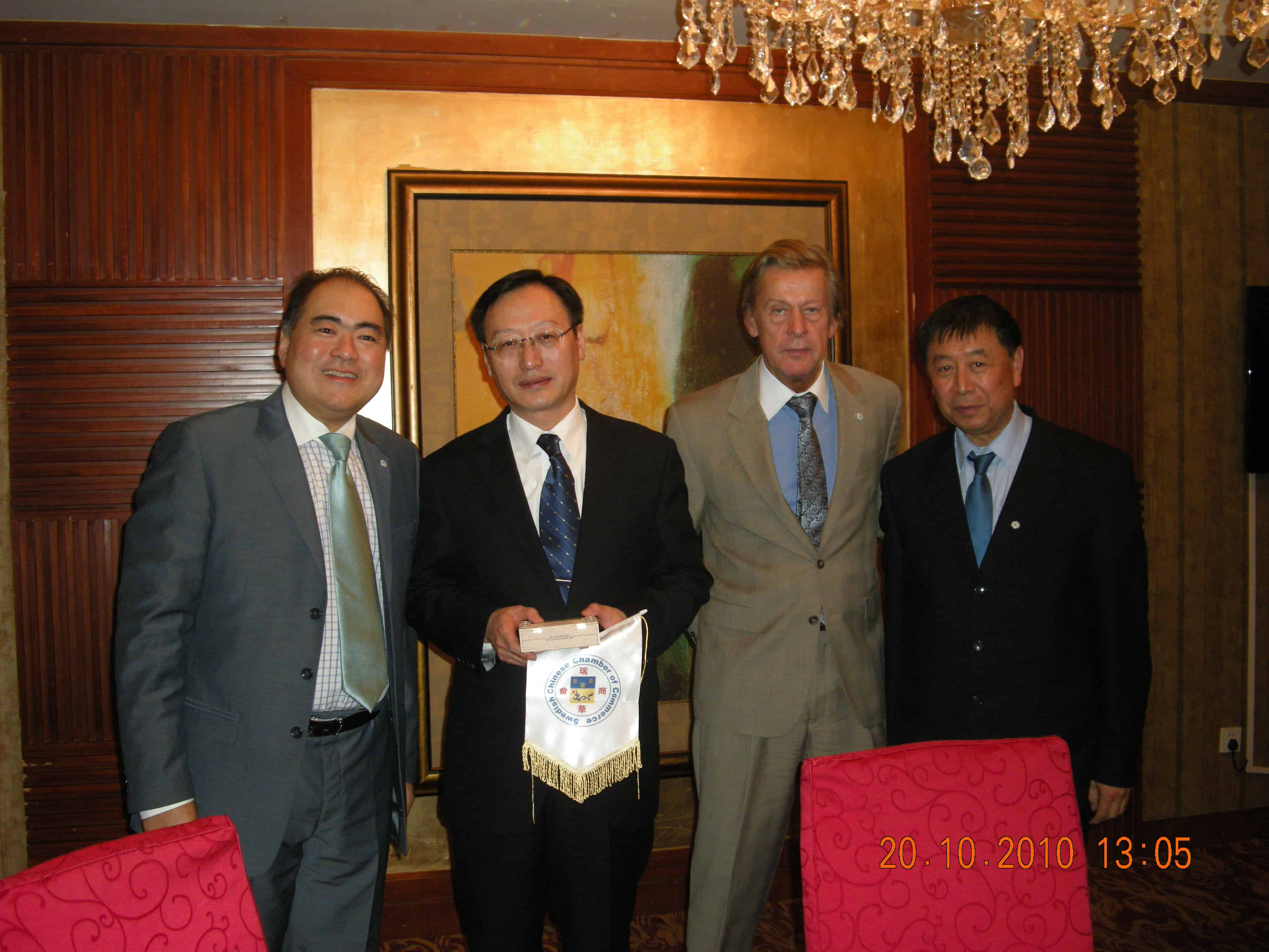 SCCC´s Kontakt resor okt 2010. besök i Tangshan Caofedian Ecocity-Shijiazhuang International Fair och Shanghai Expo