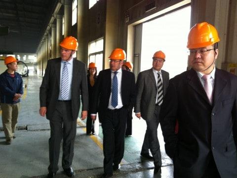 Tianjin xianda besök med Augustsson-Linner.fabrik